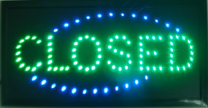 "CLOSED shop LED 19x10"" Sign Bright Store neon Bar Close Animated Light open mart free shipping"