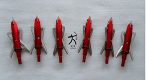 6 pieces archery hunting rage broadheads arrowheads arrow points 100 grain 2 blades red color free shipping