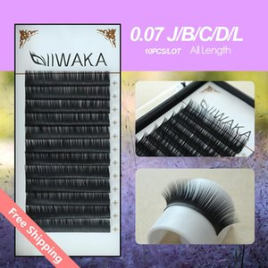 Wholesale 10pcs mm J B C D L Curl natural eyelashes extension korean false eyelashes extension Mink Eyelash Extension Extens de cils d lashes