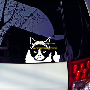 Grumpy Cat Whimsy Cat Funny Sticker for Cars Laptop Graphics Window Sticker Decal Decor Wholesale Price