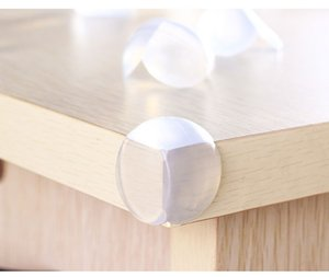 Wholesale Wholesale 500pcs Round Corner Protectors Corner Cushions For Glass Tables Or Shelves With 3M Sticker Baby Safe High quality