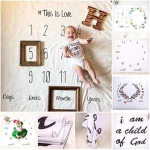 Wholesale newborn photography background props baby photo prop fabric backdrops easter infant blankets wrap letter soft blanket ins cloth mat kid