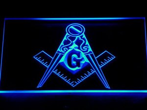 Wholesale 710 Masonic Mason Freemason Emblem Bar Beer LED Neon Light Sign Wholeseller Dropship colors to choose