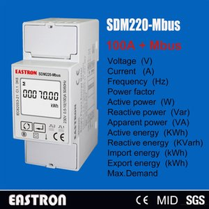 Wholesale Wholesale-SDM220 Mbus,0,25~5(100)A 220V 230V 50Hz 60Hz, single phase KWH Watt hour power energy meter,with Modbus RTU,CE approved