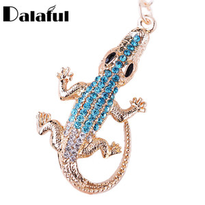 beijia Lizard Crocodile Alligator Key Chains Rings Holder For Car Cute Crystal Keyrings KeyChains For Women Bag Pendant K286