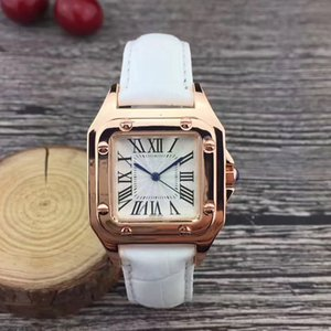 Wholesale Gold Casual women watches luxury mm Square dial Leather Strap dress quartz wrist watch for ladies girl female best gift Montre Femme