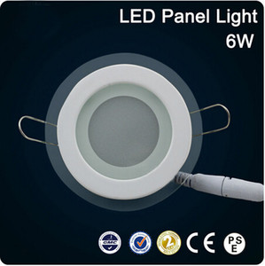 Wholesale New arrivals LED glass round Panel Recessed Wall Ceiling Downlight AC85 V W W W high bright SMD5730 LED indoor light