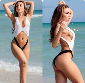 2016 hot sale bikini bodysuit Sexy high cut swimsuit Backless Swimwear Women Bathing suit Beachwear Monokini bather