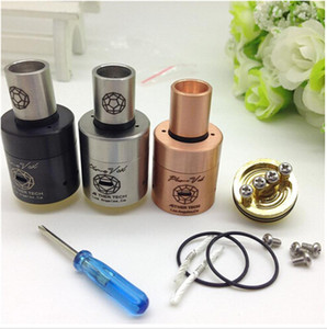 Wholesale copper mod for sale - Group buy Vaporizer Plume Veil Copper Stainless Plume Veil RDA Clone MM Atomizer Fit Ecig Mod Rebuildable Atomizer DHL Free