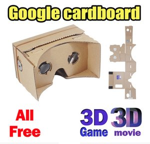Wholesale DIY Google Cardboard VR D Glasses Paper Boxes Virtual Reality D Viewing Glasses For Iphone S plus SE Samsung s7 s6 edge Google Pixel XL