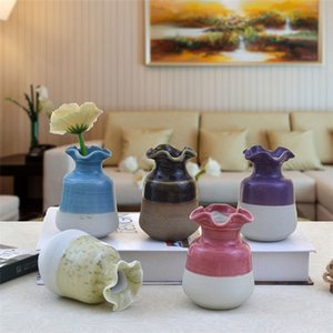 Wholesale Mini Size Flower Vase Table Desk Decoration Home Ornament Living Room Decor Ceramic Vases
