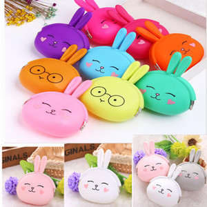 Wholesale 2017 Headphone pack Cartoon Silicone Zero Wallet Korean Cute Rabbit Zero Coin Purse Candy Color Packet Fashion Women Bags