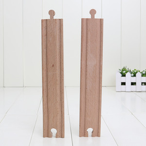 Wholesale 23cm Beech Wood Train long Straight Tracks Railway Vehicle Accessories Toys train track slot