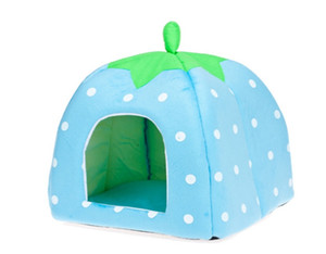 Free Shipping 2014 Newest Cute Lovely Soft Super Cool Sponge Strawberry Pet Dog Cat House Bed ,1pcs lot