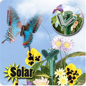 Wholesale FreeDHL Solar Yard Stake Fluttering Butterfly Solar or Battery Powered Butterfly Garden Yard Decoration exotic toys Outdoor Gift D711L