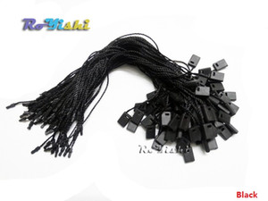 Wholesale 1000pcs cm Hang Tag Seal String with Loop Nylon Cord and Bullet Head Snap Lock Black