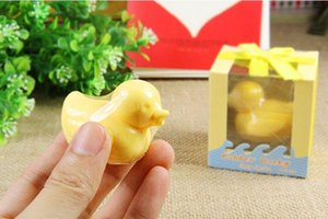 Wholesale Home Party Transparent Boxed Cute Yellow Duck Soap For islamic Bridal Baby Shower Christening Wedding Favor Bomboniere