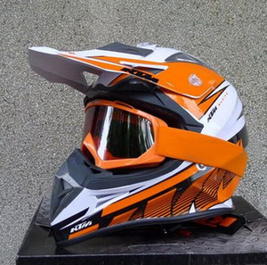 2015 Newest DOT certification KTM OFF Road motorcycle helmet Motorcross motorbike helmets Orange white color made of ABS size M L XL XXL