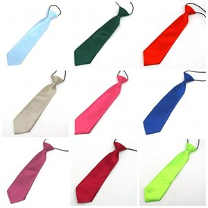 Wholesale Solid Color Elastic Necktie Fashion Simple Student Boy Girl Neckwear For Suit Accessories Tie 1 5mc C R