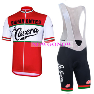 Wholesale NEW cycling jersey LA CASERA kit bike clothing wear bib shorts gel pad riding MTB road ropa ciclismo cool NOWGONOW tour man cool red