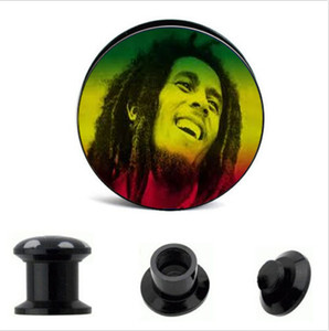 acrylic screw ear plug flesh tunnel stretcher Guage plug body piercing ear jewelry whoelsales 64pcs mix 8 size
