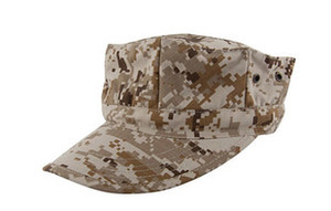 Wholesale captain hats for sale - Group buy Marines Octagonal Cap The US Military Camouflage Cap Hater Snapback Diamond Cap Military Sailor Captain Hats CEMA