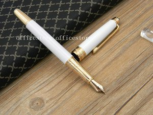 New 163 White gift metal Quality serial number golden Fountain Pens