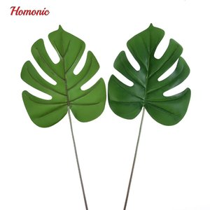 Wholesale Monstera Leaf Mexican Autumn Decoration Artificial Plants Turtles Leaves Green Monstera Leaf Home Decor Artificial Grass Plant Grama