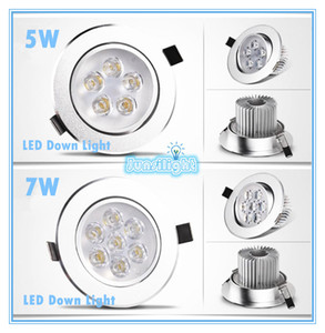Cree LED Downlight Ceiling 5W Recessed LED light Downlights Dimmable LED down Lights Lamps Warm White 110-240V on Sale