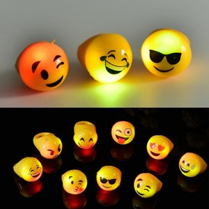 New Light Up Toys Christmas Led Flashing Rings Finger Lights Emoji Face Party Bar Toy Holiday Fesative Supplies on Sale