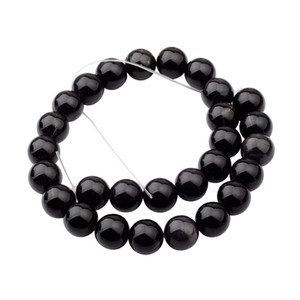 Wholesale Natural Gemstone Black Onyx Agate mm Round Beads for DIY Making Charm Jewelry Necklace Bracelet loose Stone Beads For Wholesales