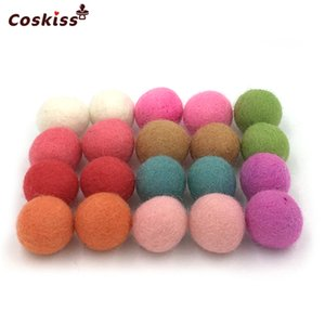 Wholesale 100pc DIY Christmas Home Decor Beads Wool Felt Balls mm Mixed Colour Wool Felt Balls Wool Pom Gumball Jewelry Beads Craft Decoration