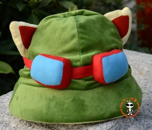 Wholesale Hot game hats League of Legends cosplay cap Hat Teemo hat Plush Cotton LOL plush toys Hats