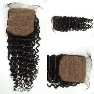 Wholesale Factory Price Virgin Human Hair Cheap Free Part Silk Base Closure With Baby Hair G EASY Top Brazilian Hair natural black Silk Lace Closures