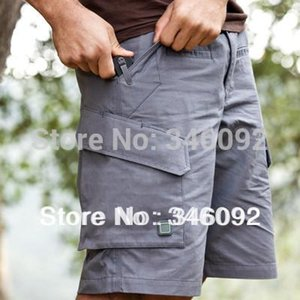Wholesale-Mens Force 10 Cargo SWAT Knee Length Quick Drying Shorts Gray Camping Hiking Free shipping