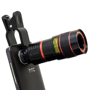 Wholesale Universal X Optical Zoom Telescope Camera Lens Clip Mobile Phone Telescope For iPhone6 for Samsung for HTC for Huawei Xiaomi