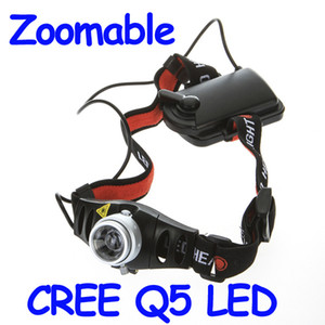 Wholesale Hot Sale Ultra Bright Lumen CREE Q5 LED Headlamp Headlight Zoomable Head Light Lamp