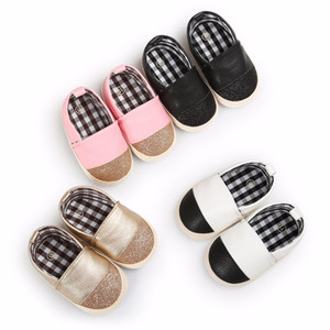 Fashion mix color pu leather baby moccasins shoes soft bottom Newborn baby girls and boys shallow sneakers shoes for 0-18M