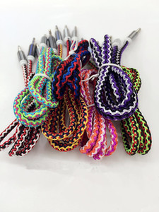 3.5mm Braided Fabric Audio AUX Cable 1M 3FT Colorful 3.5 mm Male to Male for iPhone Samsung ipad MP4 Cell phone Rainbow Style