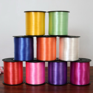 Wholesale 5mm Wedding Decoration Balloon Plastic Packing Rope Colorful Cake Ribbon Gift Packaging Rope m pc DHL