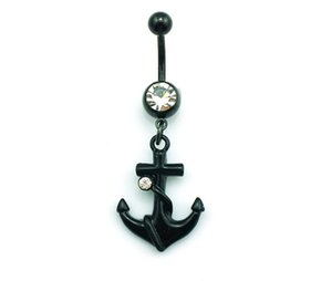 Wholesale 12 Fashion sexy boat anchor Belly Button Ring For Women Body Jewelry Navel Piercing Body Ring moda joyas