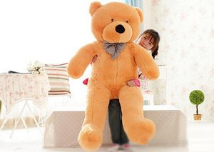 Wholesale 6 FEET BIG TEDDY BEAR STUFFED Colors GIANT JUMBO quot size cm Embrace Bear Doll lovers christmas birthday gift