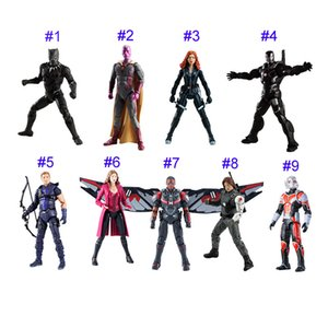 Wholesale 11 Style Avengers doll toys Children Captain America Iron Man Black Panther Anime puppet model action figures PVC toys Joints can move B