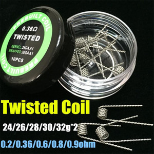 2019 Flat Twisted Wire Fused Clapton Coil Pre Made Hive Wire Alien Quad Tiger Coils Heating Resistance Wire Vape RDA freeshipping