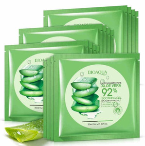BIOAQUA Natural Aloe Vera Gel Face Mask Moisturizing Oil Control Wrapped Mask Shrink Pores Facial Mask Cosmetic Skin Care
