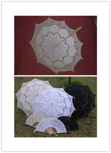 Wholesale Wedding Decoration Hand Fan Wedding Decoration Hot Wedding Lace and Cut Out Hand Fan Fashion Beautiful and More Color Umbrella
