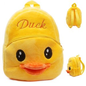 Wholesale Baby Cartoon backpack Girls Boys lovely mini soft Backpacks for T plush yellow duck backpack birthday gift