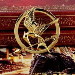 Wholesale Movie The Hunger Games MOCKINGJAY PINS Brooches colors Gold Silver Bronze for Christmas gift