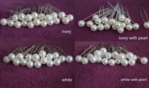 200 PCS IVORY  WHITE PEARL WEDDING BRIDAL BRIDE PROM HAIR BOBBY PIN Headress WEDDING Accessories Hairpins on Sale