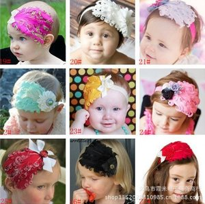 Newst Style baby girls bowknot feather headbands Headwear, feather headdress, kids' hair accessories Baby Christmas gift on Sale